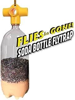 Flies Be Gone Monster SODA Bottle Fly Trap KIT(2 Pack) Reusable, 100% Non-Toxic