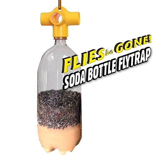 Flies Be Gone Monster Soda Bottle Fly Trap (2 Pack) Reusable, 100% Non-Toxic