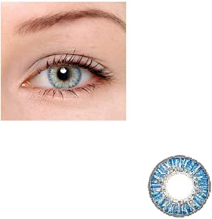 Unisex Contact Lenses Colored Collection Cosmetic Contact Lenses, 12 Months Disposable with Case-True Sapphire