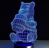 3D illusion lamp - Figuras de dibujos animados de los Minions para fiestas en el dormitorio de los niños, 7 colores cambiantes