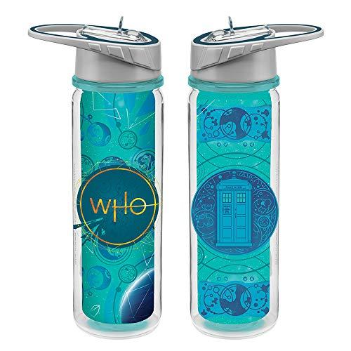Vandor Doctor Who S11 18 oz. Tritan Water Bottle.