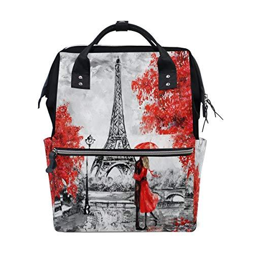 Sweet grape Painting Paris Red Maple Tower - Bolsa de viaje