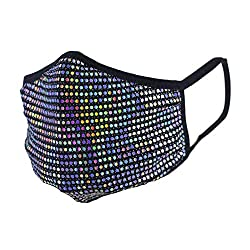Disco Circles Rhinestones Cloth Face Mask