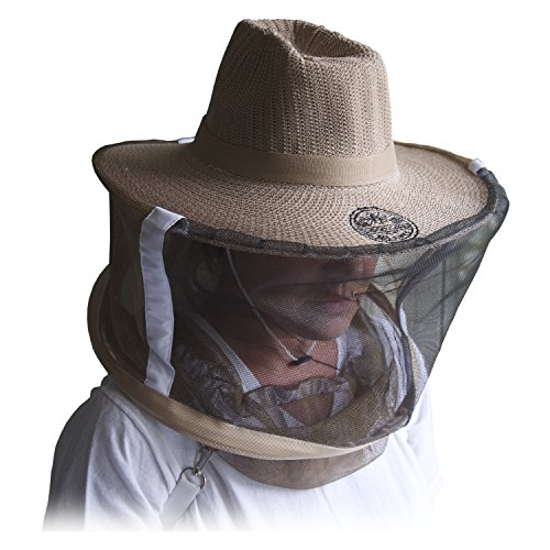 Natural Cotton Medium / Large Professional Beekeeping Beekeepers Hat...