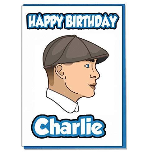 AK Giftshop personalisierbare Geburtstagskarte mit Schirmmütze, mit Flacher Kappe, personalisierbar