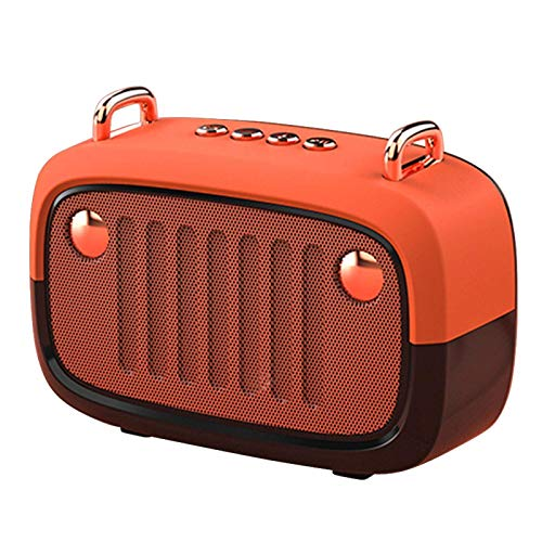 Altavoces Bluetooth Portátil Volumen Alto Regalo Inalámbrico Estéreo Retro Mini Escritorio Recargable con Micrófono Decoración para el Hogar Radio Gris