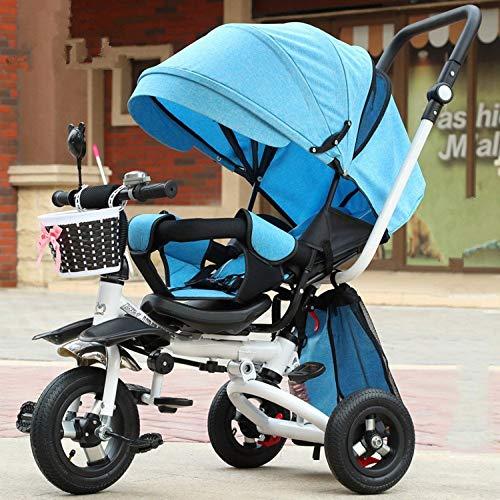 GWCD-STC Triciclo Evolutivo Triciclo para niños Bicicleta portátil con toldo para niños...