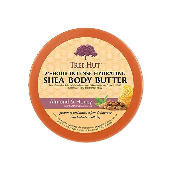 Tree Hut 24 Hour Intense Hydrating Shea Body Butter Almond & Honey, 7oz, Hydrating Moisturizer with Pure Shea Butter for…