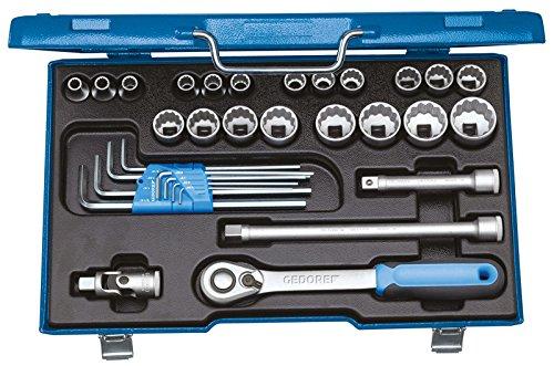 Gedore D 19 WAU-20 dopsleutelset 1/2 inch 31-TLG 5/16-1.1/4AF