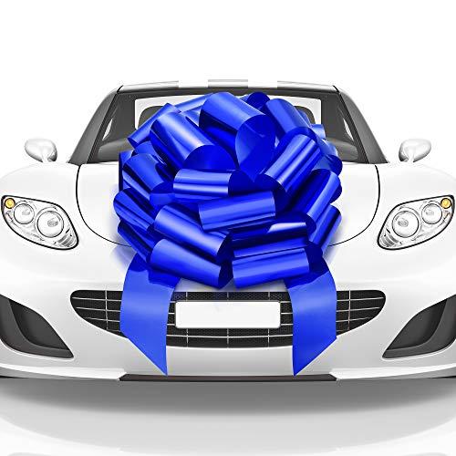 Mata1 Big Car Bow (Blue, 23 inch) Giant Gift Bows, Big Bow for Car, Gift Bow, Big Blue Bow, Large Car Bow, Big Gift Bow, Car Pull Bow, New Car Bow, Huge Car Bows, Car Ribbon Bows