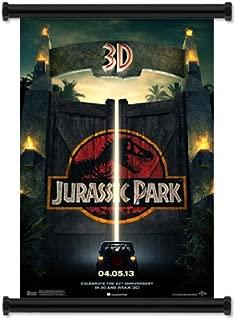 Jurassic Park 3D Movie 2013 Fabric Wall Scroll Poster (16