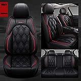 Karstry Fundas Asientos Coche Universales para Serie BMW E46 E90 E39 G30 E60 E36 F10 F30 E87 X5 E70 E53 E34 F20 E30 E92 E91 F11 E90 F31 X3 E83 E46. Accesorios Coche,Estándar Negro