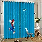 Cortinas correderas DONEECKL para dormitorio Super Mario Bros, cortinas opacas para dormitorio de 137 x 160 cm