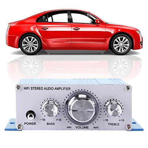 Gaeirt Amplificador Auto del Coche, Mini Altavoz Profesional del Coche del Reproductor de música para el DVD MP3(Blue)