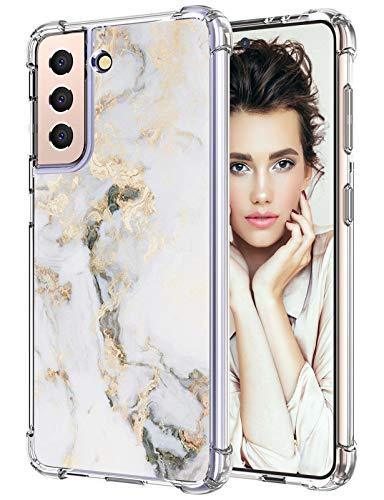 Funda para Samsung Galaxy S21, funda fina de silicona transparente, Galaxy S21, funda 360 grados, suave, antigolpes, TPU, funda para Samsung S21 de 6,2 pulgadas