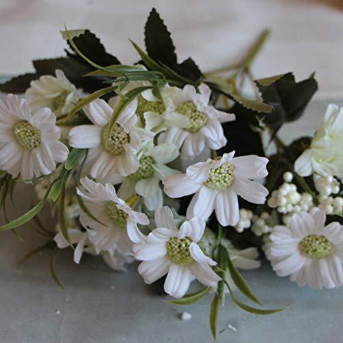 teng hong hui Aceite Artificial del crisantemo Ramo de Flores de Seda Falso Boda de la Margarita decoración del hogar de la Flor de Flor de la Margarita