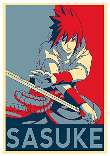 Kopoo Naruto Sasuke - Póster de anime, 11 x 17 cm, 28 x 43 cm