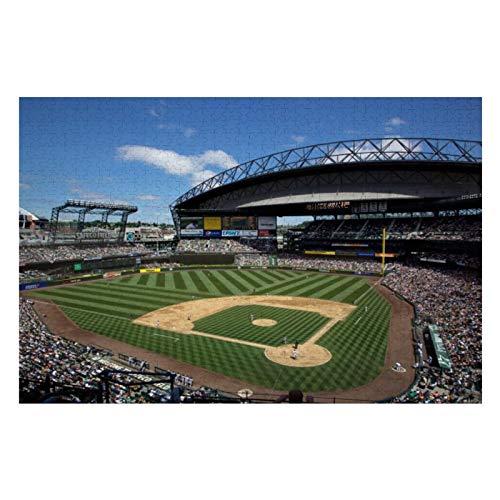 Wa, Seattle, Safeco Field, Mariners Baseball Puzzles para adultos, 300 piezas para niños, juego de rompecabezas de juguete regalo para niños y niñas, 10 pulgadas x 15 pulgadas