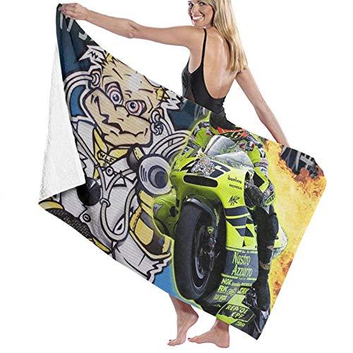 Valentino Rossi toalla de baño, toallas de baño, súper absorbentes, toallas de baño para el gimnasio, playa, spa de natación