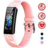 Mgaolo Slim Fitness Tracker for Kids Women,IP68 Waterproof Activity Tracker with Blood Pressure