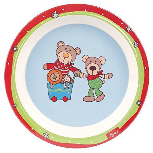 Sigikid Wild and Berry Bears Melamin Teller (21,5x 21,5x 2,5cm)