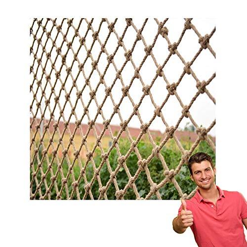 Juteschnur String Netting Dekorative Hanfnetz Vogel Kletternetz Mehrzweck Dekoration Bündeln Net Veranda Netting Net Zaun Net Hintergrund Wand Dekorative Net (6mm Seil 10 cm Loch) (Size : 0.5×1m)