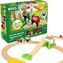 Brio My First Railway – 33727 Beginner Pack   Wooden Toy Train Set for Kids Age 18 Months and Up