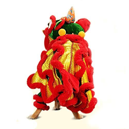 Ropa del Animal doméstico Ropa for Mascotas León de Vestuario Tiktok China se sitúan Kazeto Mares Danza del león Año Nuevo Año Nuevo Perros y Gatos Tedikeji Cachorro Jerseys suéteres de Mascotas