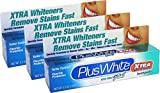 Plus White Toothpaste Xtra Whitening Cool Mint Gel 3.5 Ounce (103ml) (3 Pack)