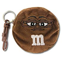 M&M's 【エムアンドエムズ】 コインケース キーチェーン ブラウン 並行輸入 アメリカン雑貨 (BROWN)