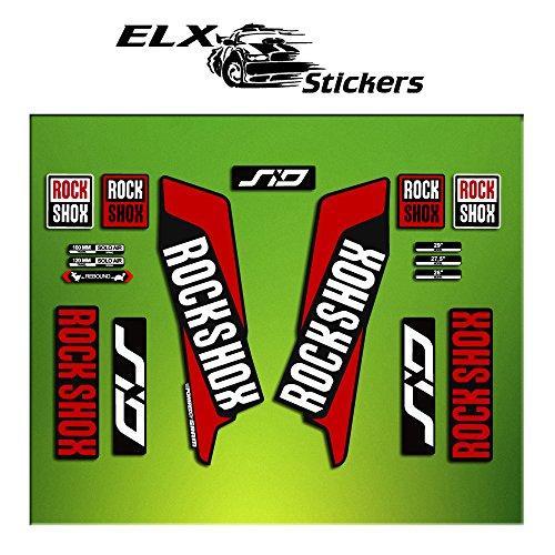 Pegatinas HORQUILLA Rock Shox Sid 2016 ELX37 Stickers AUFKLEBER AUTOCOLLANT Decals Bicicleta Cycle...