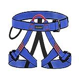 WILDKEN Arnés Seguridad para Escalada Protección de Caída Cintura Cadera Cinturón de Seguridad de Protección Guías de Montaña al Aire Libre Escalada para Alpina Bomberos Trepadores de Árboles (Azul)