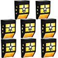 Solar Fence Lights Outdoor Waterproof Wireless Solar Deck Lights Stair Lights for Patio Lights, Landscape Decorative Step Lights for Driveway Fences Pathway Staircase (Warm Lights, 8 Pack)