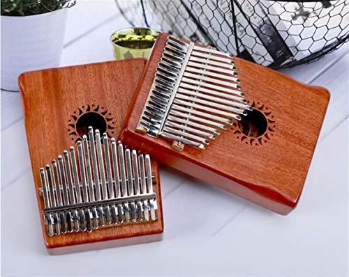 Kalimba, Daumenklavier 17 Keys Kalimba Afrikanische massiver Mahagoni Daumen Finger Piano Sanza Massivholz Kalimba Mbira Musikinstrument (Color : Natural)
