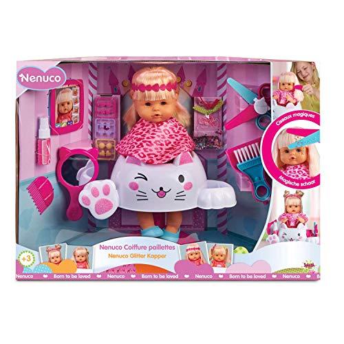 Famosa - Nenuco Parrucchiera Glitter, Bambola Educativa, 700015153