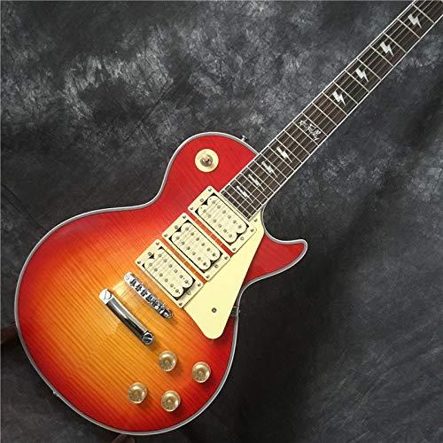 YYYSHOPP Guitarras y Engranajes Guitarra Eléctrica con 3 Pickups Diapasado De Palisandro De Guitarra...