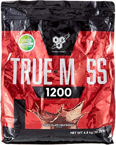 BSN True Mass 1200, Proteine in Polvere per Aumentare la Massa Muscolare con BCAA e Glutammina che Aiutano il Recupero Muscolare, Milkshake al Cioccolato, 4.80 kg, 15 Porzioni