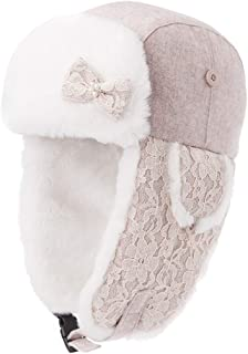 PLL 秋冬スウィートベージュハット女性スキーキャップ厚手暖かい耳あてファッションエアキャップ
