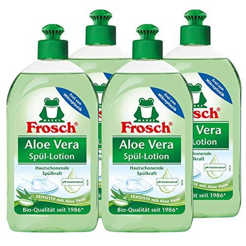 4x Frosch Aloe Vera Handspül-Lotion 500 ml