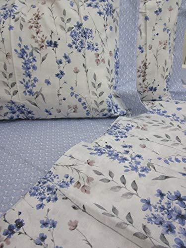 PAGO POCO Neuware !!! Bettwäsche-Set für Einzelbett, französisches Bett, mit 2 Kissenbezügen, hellblau, 100% Reine Baumwolle, Perkal !