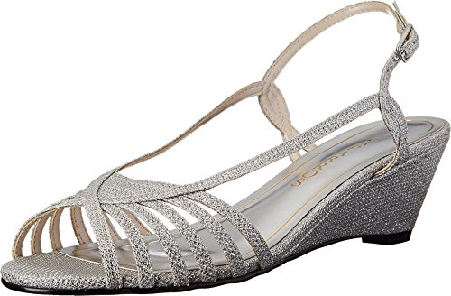 Caparros Women's Tango Dress Sandal, Light Silver Sparkle - 5.5 B(M) US