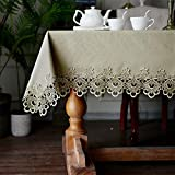 ARTABLE Vinyl Lace PVC Tablecloth...
