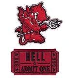 Titan One Europe - Red Ticket To Hell + Little Devil Satan Piccolo Diavolo Toppa Ricamato Termoadesivo