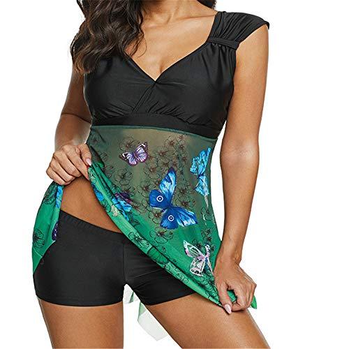 Falda Split Boxer Bikini Mujer Moda Traje De Baño Multicolor De Las Mujeres a 5XL