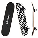 Product Image of the WhiteFang Skateboards for Beginners, Complete Skateboard 31 x 7.88, 7 Layer...