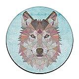 Entramado geométrico diamante lobo antideslizante alfombrillas Circular alfombra alfombrillas...