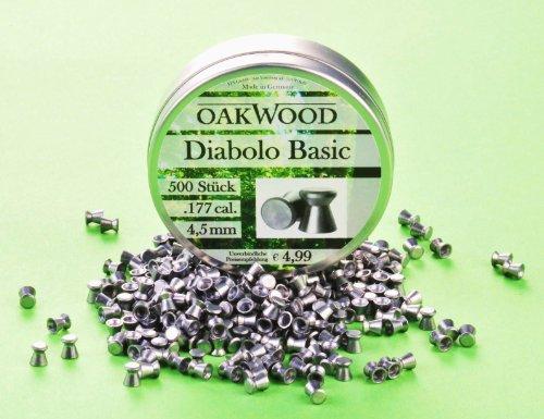 Oakwood 500foto Base di pellet Fucile Ad Aria Compressa Pellet–4,5mm adatto per TUTTE le armi aria in Cal: Diabolo 4,5