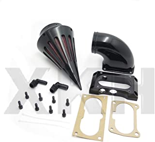 XKH- Motorcycle Spike Air Cleaner Filter Compatible with Kawasaki Vulcan 2000 Vn2000 Classic Lt Black [B00Y7CCOHO]