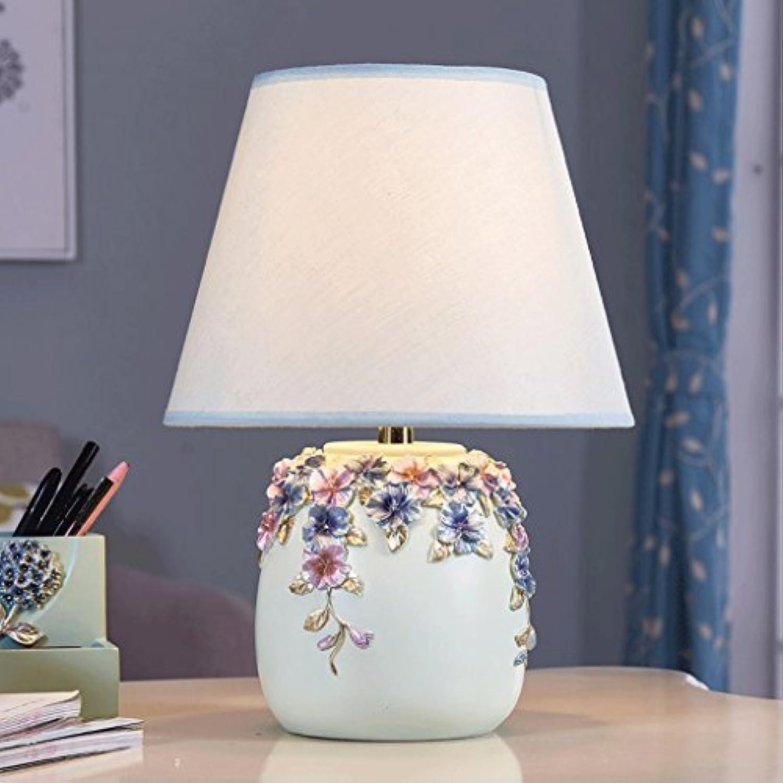 Europische Pastorale Moderne Minimalistische Schreibtischlampe Wohnzimmer Studie Mode Niedlichen Dekorative Tischlampe Schlafzimmer Nachttischlampe (Farbe   Blau)
