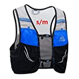 AONIJIE 2.5 L Unisex Ultra Running Chaleco de Piel Avanzada hidratación Pack para Trail Running Cycling Marathoner (Azul Negro -S/M)